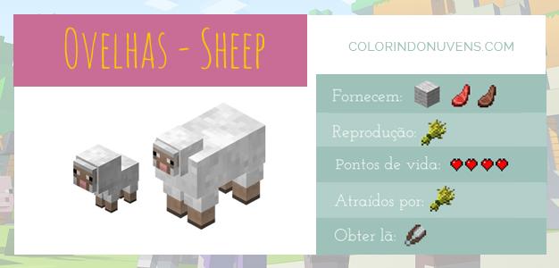 Criação de Animais - Ovelhas Minecraft