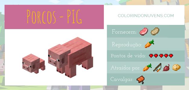 Criação de Animais - Porcos Minecraft