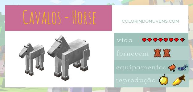 Criação de Animais - Cavalos Minecraft