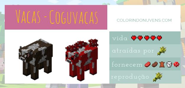 Criação de Animais - vacas e coguvacas Minecraft