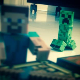 Miniaturas e chaveiros Minecraft