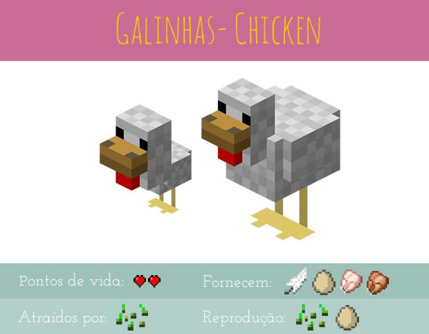 minecraft o seu guia completo de animais 1 galinhas porcos e