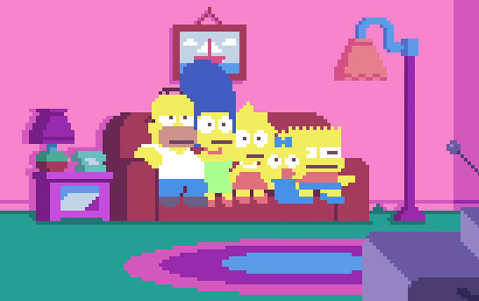 sSimpsons-PixelArte-ColorindoNuvens