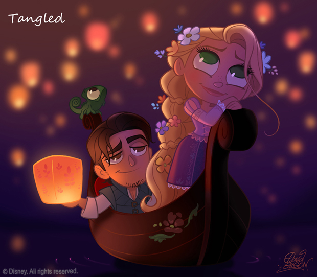 tangled-colorindonuvens