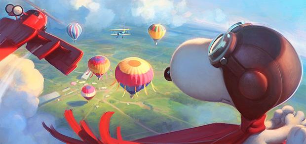 Arte Conceitual - Peanuts - Colorindo Nuvens