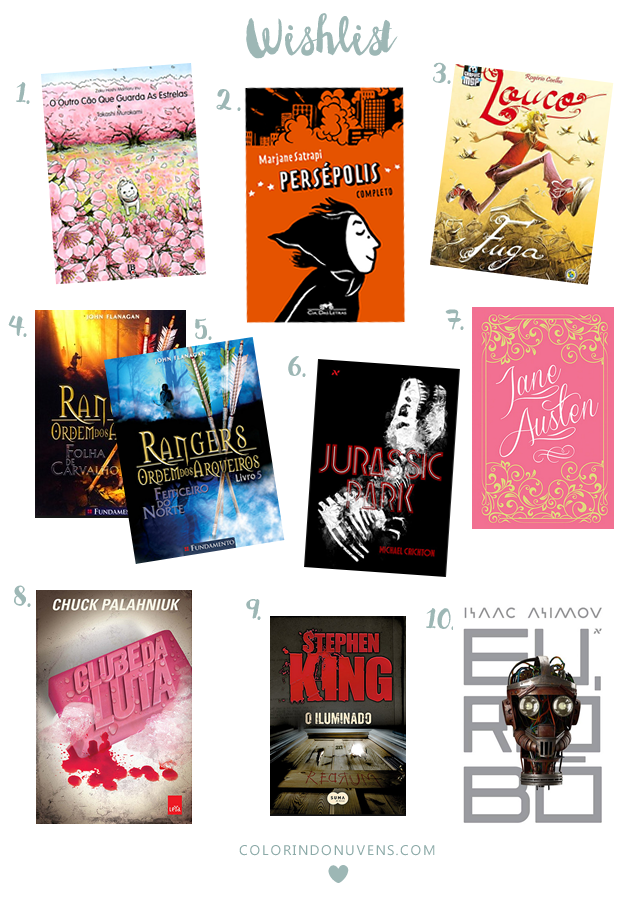 book wishlist colorindo nuvens
