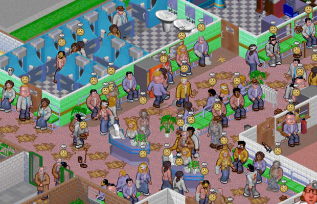 theme hospital colorindo nuvens