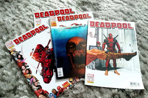 deadpool colorindo nuvens