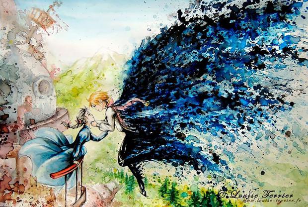 Arte de Louise Terrier Inspirada no Studio Ghibli