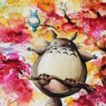 Arte de Louise Terrier Inspiradas no Studio Ghibli