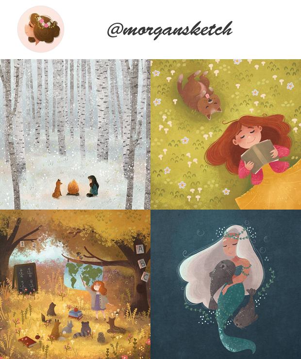 Instagram de ilustradores para seguir @morgansketch