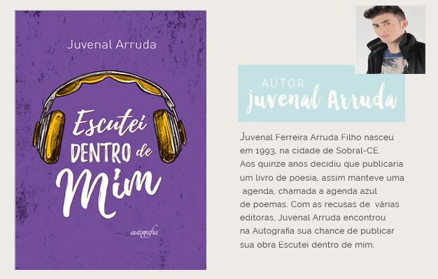 Livro de poesia Escutei dentro de Mim Juvenal Arruda