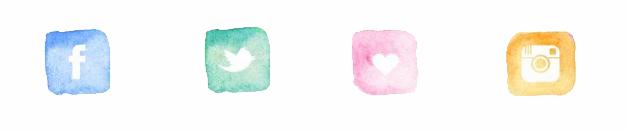 Redes sociais colorindo nuvens