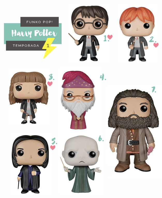 Colecionáveis Funko Pop! Harry Potter Todas as temporadas Serie 1