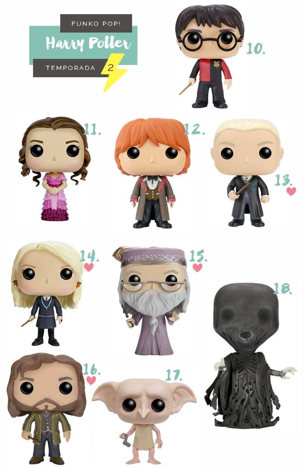 Colecionáveis Funko Pop! Harry Potter Todas as temporadas Serie 2