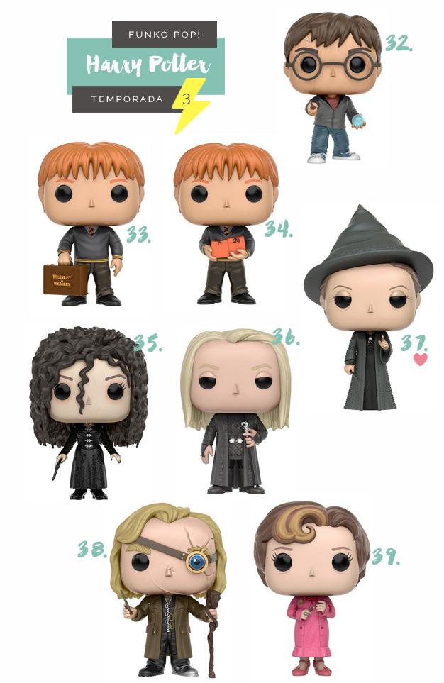 Colecionáveis Funko Pop! Harry Potter Todas as temporadas Serie 3