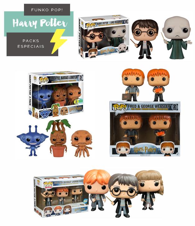 Colecionáveis Funko Pop! Harry Potter Todas as temporadas Versões Packs Especiais