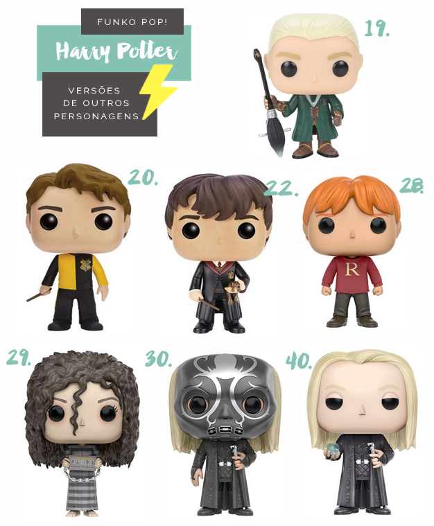Colecionáveis Funko Pop! Harry Potter Todas as temporadas Versões Especiais de Personagens