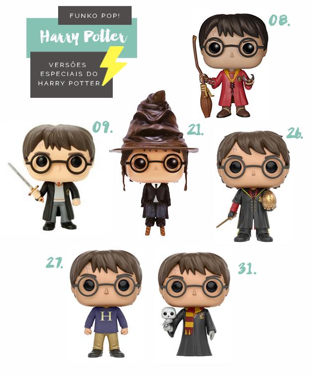 Colecionáveis Funko Pop! Harry Potter Todas as temporadas Versões Especiais
