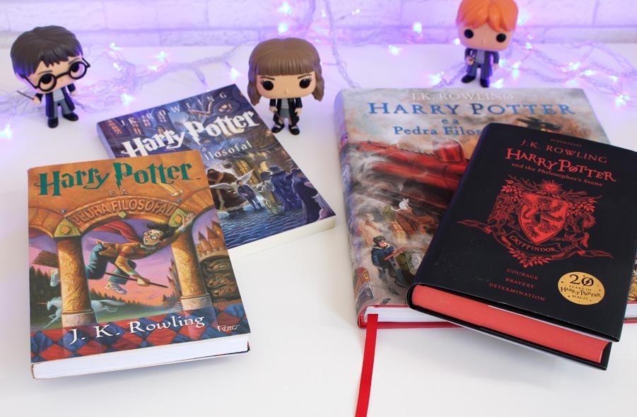 Coleção Harry Potter e a Pedra Filosofal Edição Especial 20 anos Grifinória