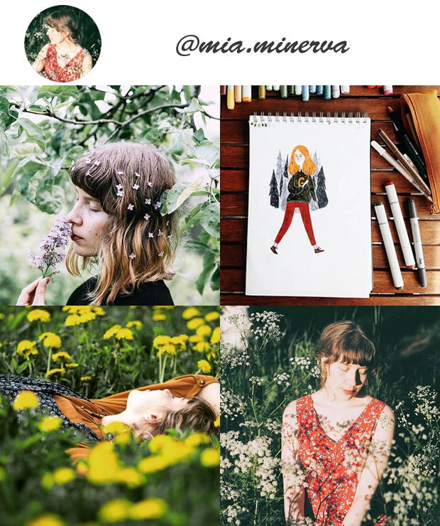 Perfis Instagram Inspiradores Gringos para seguir @mia.minerva