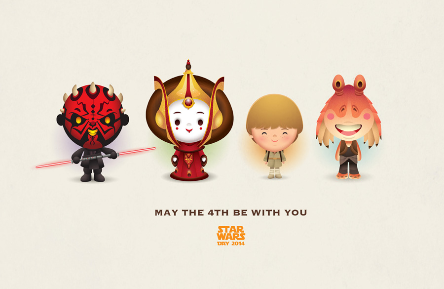 Personagens Star Wars by jerrod maruyama