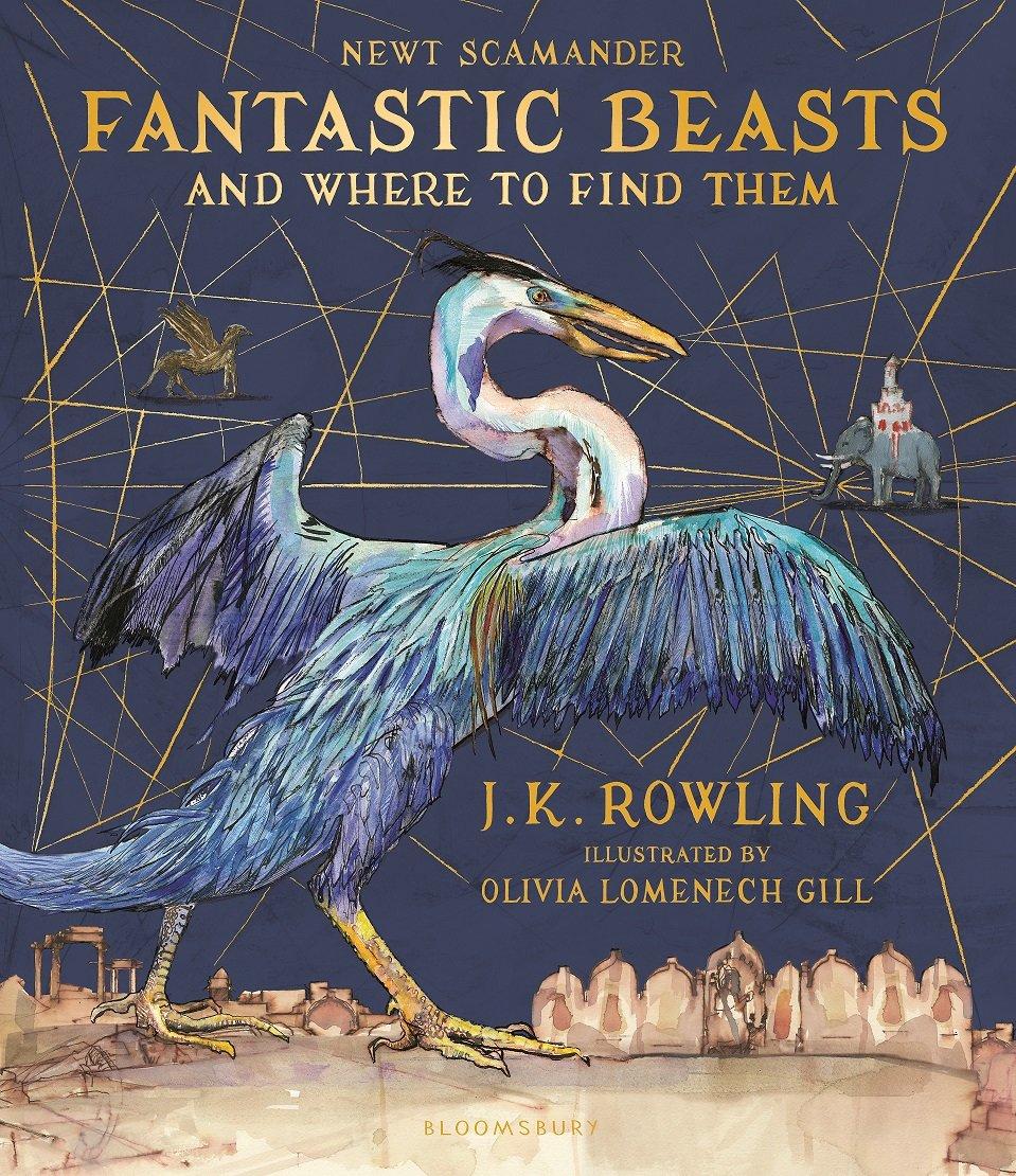 Capa do livro Animais Fantasticos e Onde Habitam Livro Ilustrado