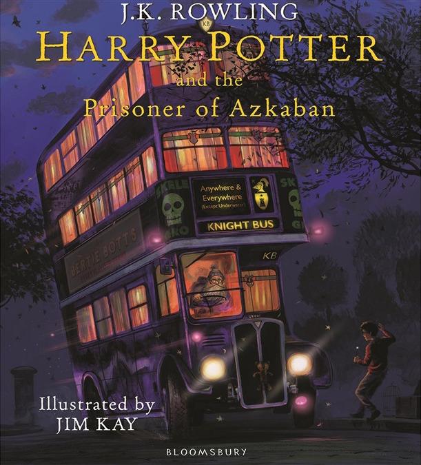 Lançamento Edição Ilustrada Harry Potter eo Prisioneiro de Azkaban Livro Capa