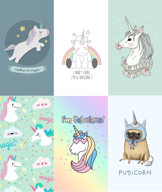 Papel de Parede Wallpaper unicornios para celular