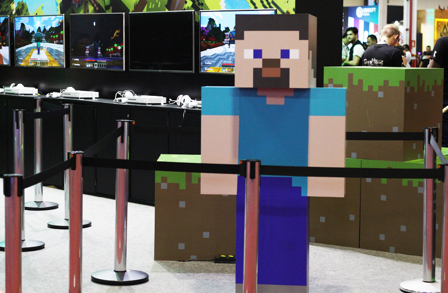 BGS Brasil Game Show Minecraft Colorindo Nuvens