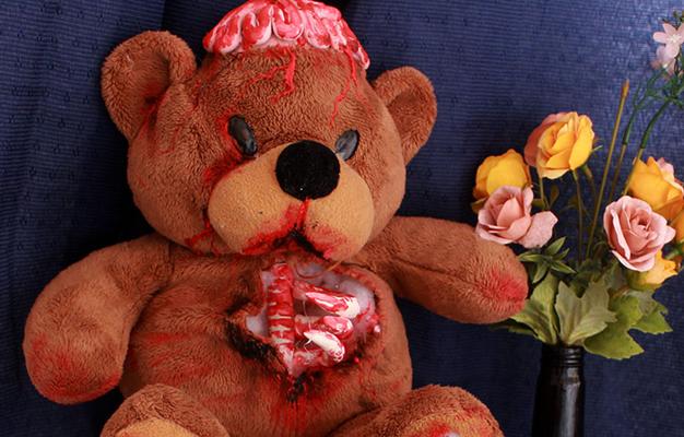 DIY Halloween Urso Zumbi Sai da Minha Lente