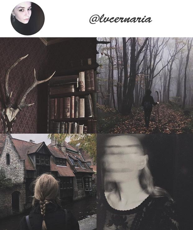 Perfil Instagram dark @lvcernaria Especial Halloween