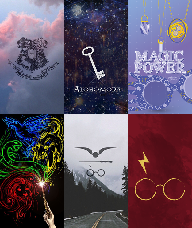 Wallpapers harry potter para celular simbolos e artefatos mágicos