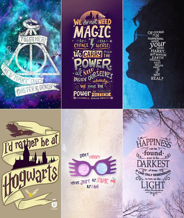 Wallpapers harry potter para celular frases