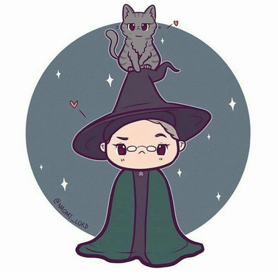 Personagens Harry Potter versão kawaii Minerva McGonagall