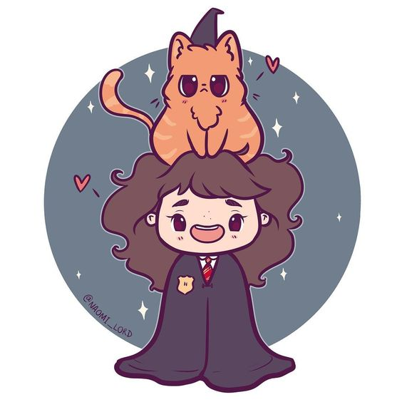 Personagens Harry Potter versão kawaii Hermione