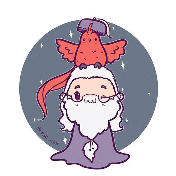 Personagens Harry Potter versão kawaii Dumbledore