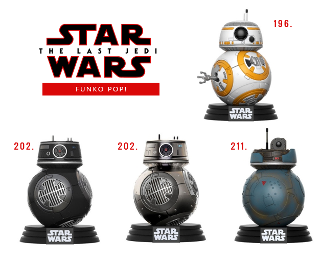 Funko Pop Star Wars VIII Os últimos Jedi BB8