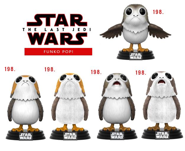 Funko Pop Star Wars VIII Os últimos Jedi Porg