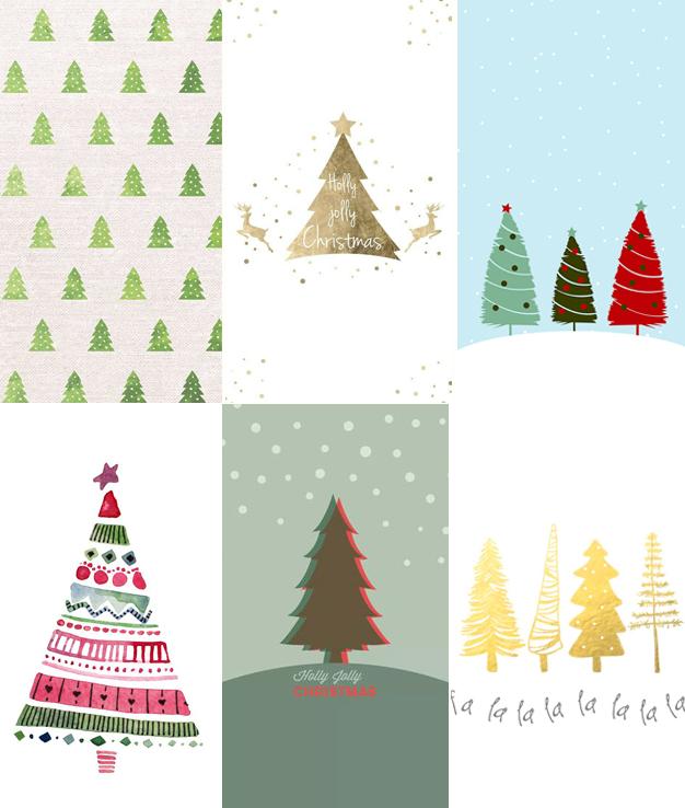 Baixar Wallpapers Celular Arvores de Natal
