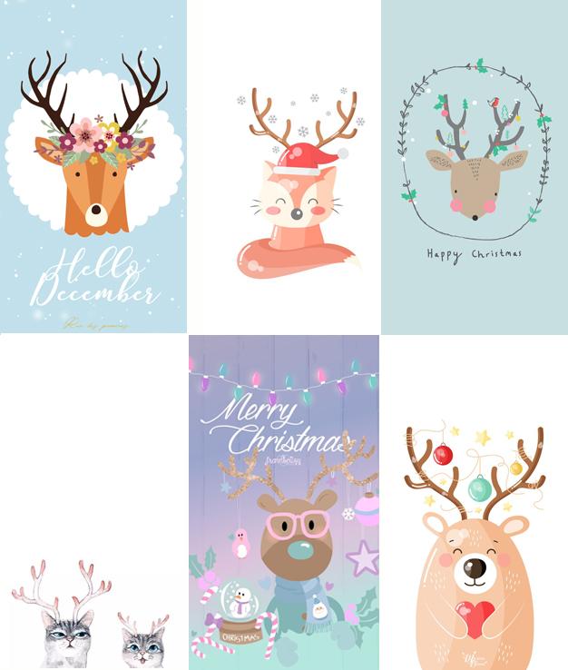 Baixar Wallpapers Celular Natal Renas fofas
