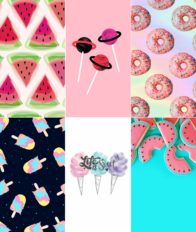 wallpaper Doces para celular estilo Tumblr