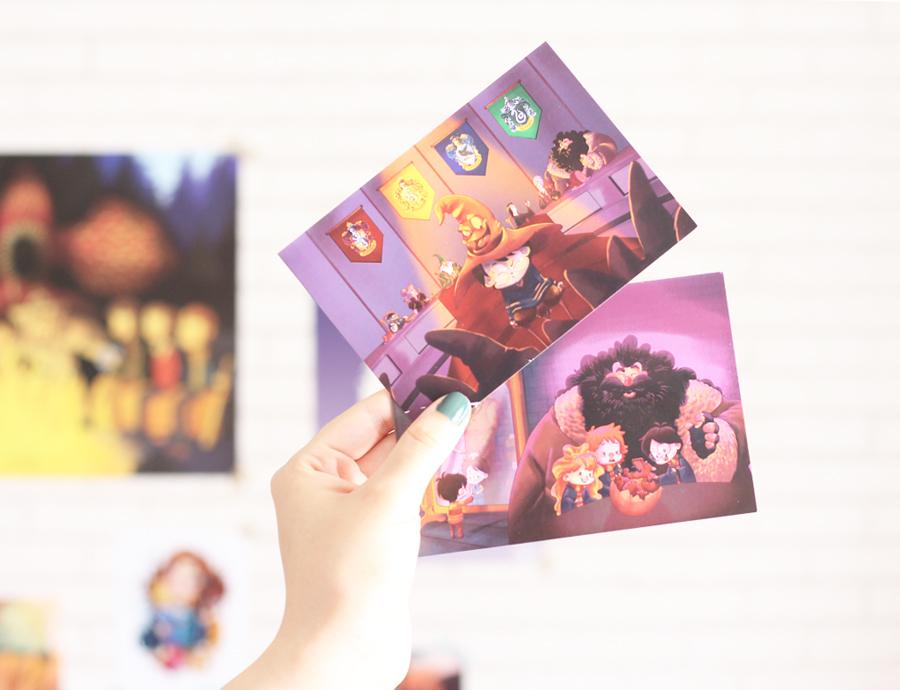 Compras Comic Con Artist Alley Ilustrações Harry Potter