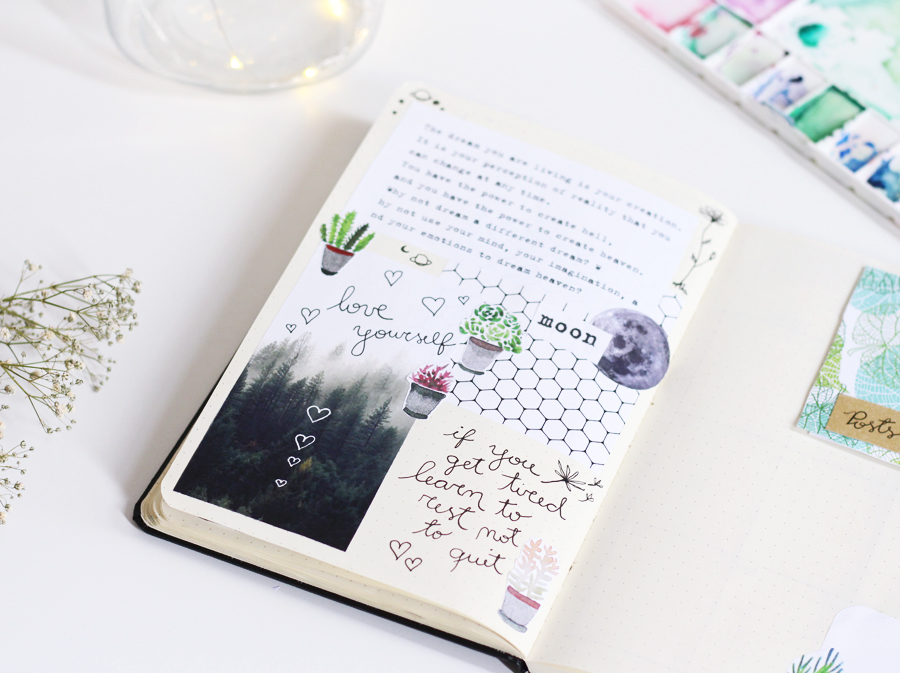 Bujo: Bullet Journal página criativa