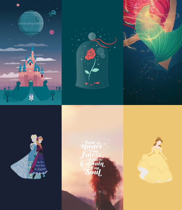 Wallpaper Disney Minimalista