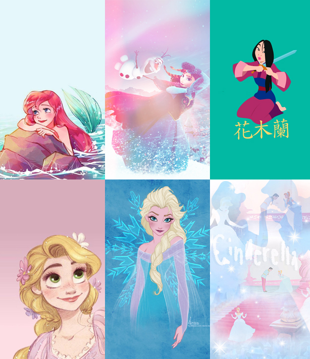 Wallpapers Celular Princesas Disney