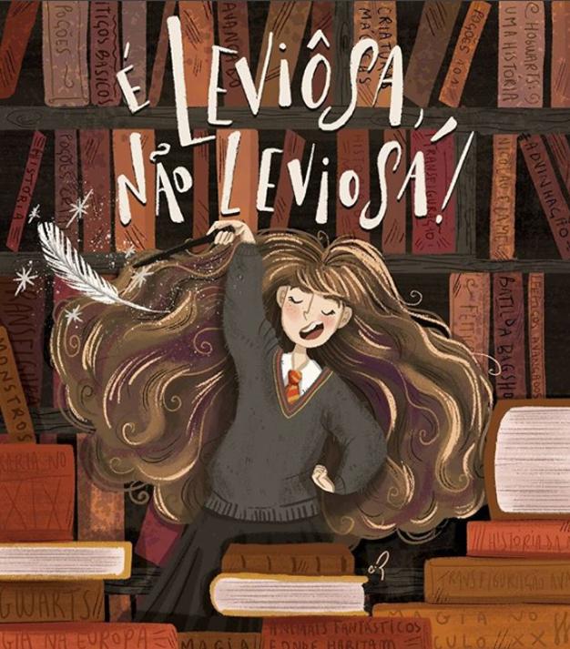 Fanart Hermione Carol Rempto ilustradora brasileira
