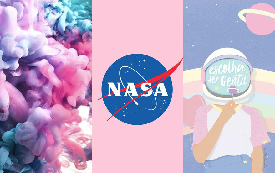 Wallpaper tumblr girl, universo e texturas