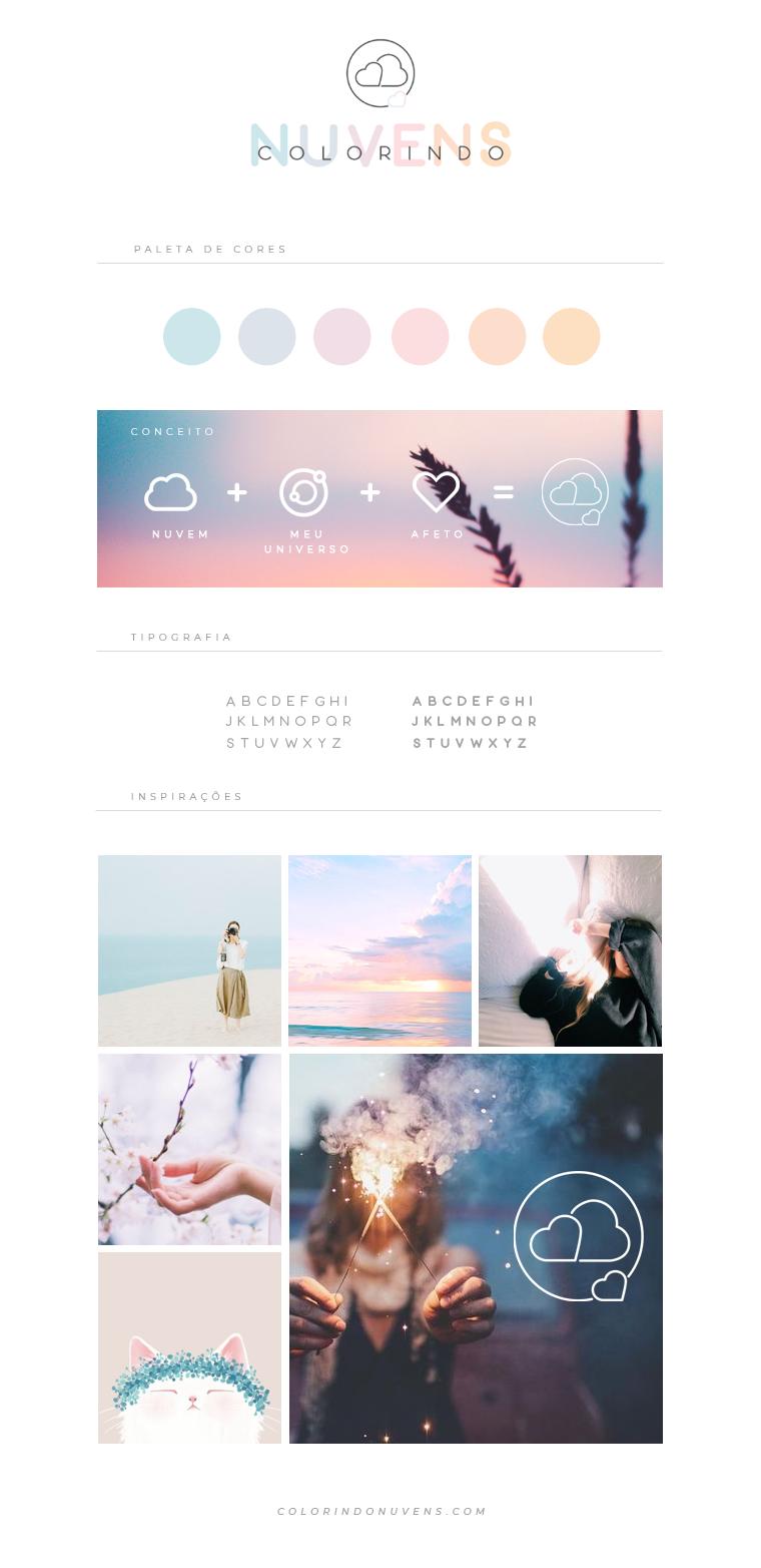 Branding blog colorindo nuvens