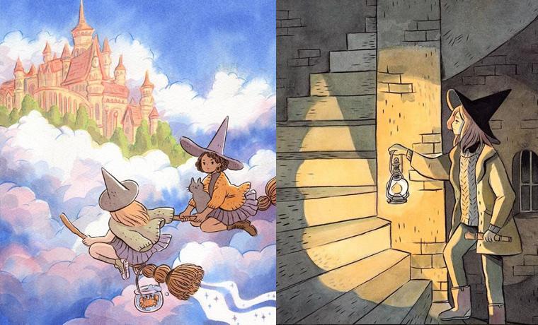 ilustrações de bruxinhas @heikala